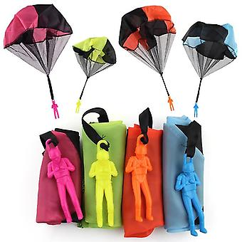 Hand Throwing Parachute Toy For Children's Educational Parachute With Figure Soldier Outdoor Fun
