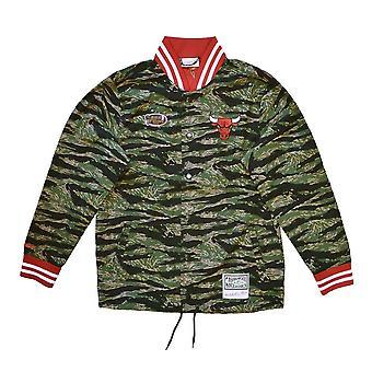 Mitchell & Ness Nba Chicago Bulls Tiger Camo BFJKBW19095CBUCAMO universali tutto l'anno giacche da uomo