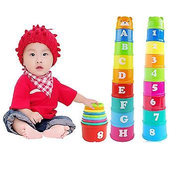 Bear Stack Cup éducatif 13-24 mois Jouets bébé Rainbow Couleur Kid Figures