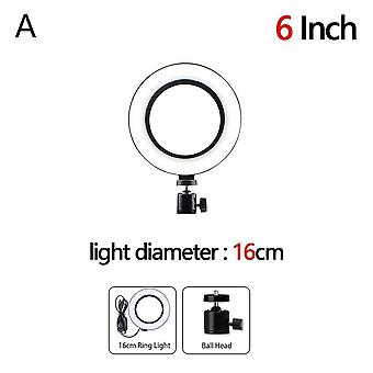 Usb Led Selfie Ring Light Fotografie Flash Lampă cu suport trepied