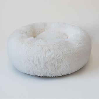 Cómoda cama suave lavable Donut Cuddler Round Dog Bed, cojín de gato