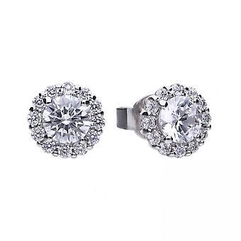 Boucles d'oreilles Diamonfire Silver White Zirconia Solitaire E5576