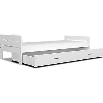 Houten bed met lade 90x200cm