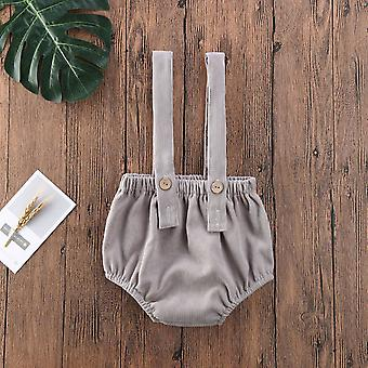Summer Baby Rompers, Cute Corduroy Suspender Rompers Baby Clothing Shorts