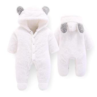 Newborn Baby Winter Clothes Infant Boys Girls Soft Fleece Jumpsuit Outerwear Rompers Thicken Pajamas Playsuit