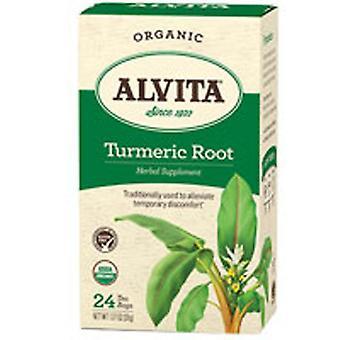 Alvita Teas Orgaaninen kurkuma juuritee, 24 pussia