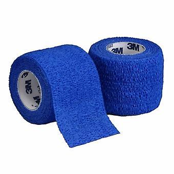 3M ضمادة متماسكة كوبان 3 بوصة × 5 ياردات القياسية ضغط الذاتي الملتزمين إغلاق الأزرق NonSterile، الأزرق 1 لكل من