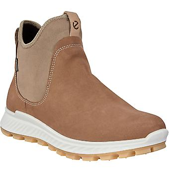 Ecco Womens Exostrike Gore-Tex GTX Leather Outdoor Casual Chelsea Boots - Camel