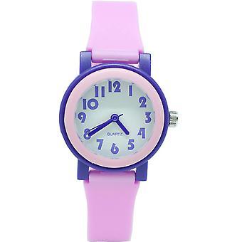 Nepremokavé svetelné LED hodinky Digital Touch Pre deti - fialová a ružová