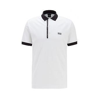 Hugo Boss Paule 4 Short Sleeve Cotton White Polo Shirt