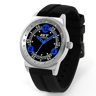 GT 6 Silica Gel Strap Bil Racing Style Fashion Sport Casual Mænd Quartz