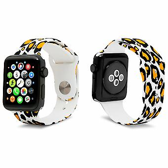 iWatch Silicone Sports Strap con Tiger 38mm Print