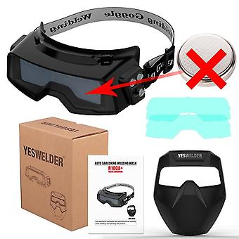 Yeswelder Large Screen Welding Mask = True Color Helmet Without Battery