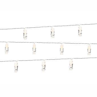 Lumières LED Photo Clips chevilles clair 1,4 m 10 chevilles mariage maison & décoration