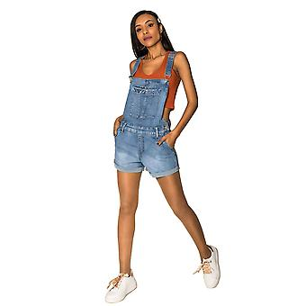 Women Jeans Shorts Hot Pants Skinny bib Trousers Stretch Shorts 90s Summer