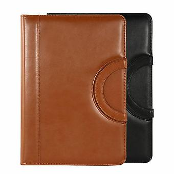 A4 Binder Folder Pu Leather Portable Manager Padfolio