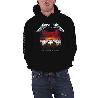 Metallica com capuz mestre de fantoches faixas novo oficial Mens Black Pullover