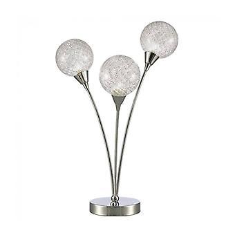 Protea Chrome Tischleuchte 3 Glühbirnen