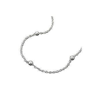 Corrente de colar com bolas de prata 925