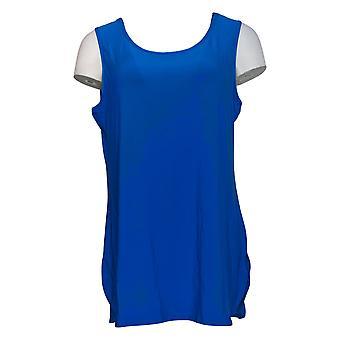 Atitudes de Renee Women's Top Como Jersey Tuni Tank Blue A371699