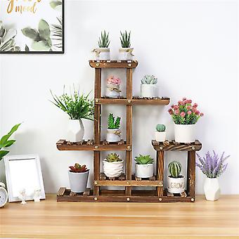Plant Stand Small Wood Planter Shelf For Succulent Tabletop Window Garden Rack