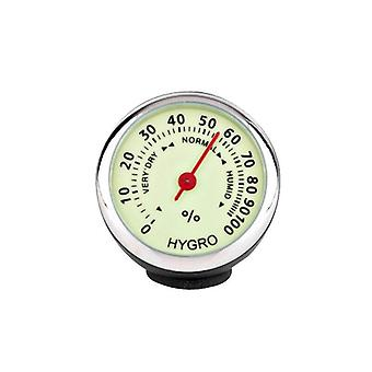 Car Clock Thermometer Hygrometer Internal Stick-on Dashboard Auto Interior