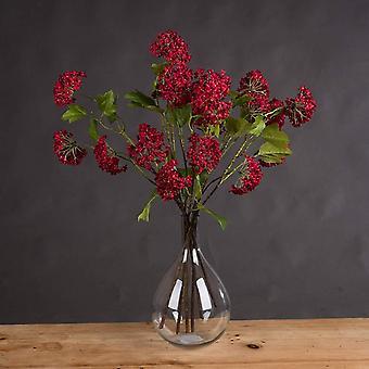 Hill Interiors Artificial Faux Red Autumnal Viburnum Spray