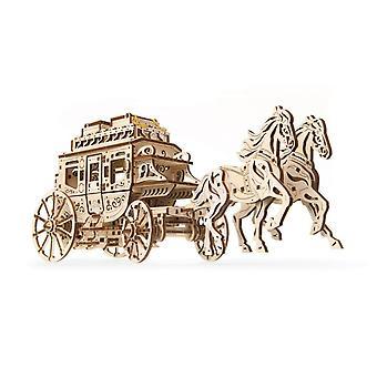 Stagecoach UGears 3D Wooden Model Kit