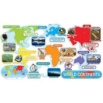 World Continents Bulletin Board Set