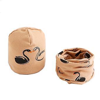 Plush Hat Scarf Set, Neck Collar Cotton
