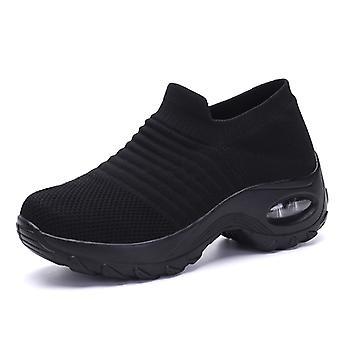 Baskets légères de mode de femmes Noires2