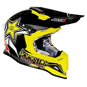 Just1 J12 Carbon Adult ACU Gold MX Helmet - Rockstar 2.0
