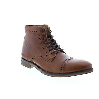 Andrew Marc Clay  Mens Brown Leather Casual Dress Boots