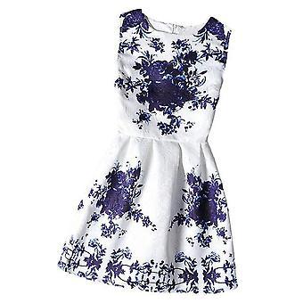 Girl'S Sleeveless Floral Summer Dress