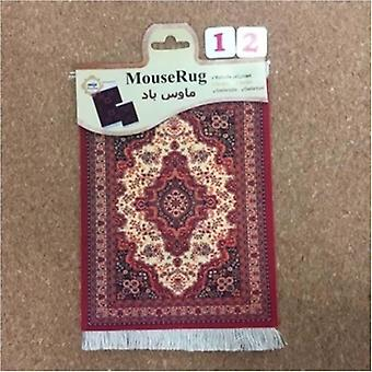 Mini Woven Rug Mat Mousepad Retro Style Carpet Pattern Cup Mouse Pad