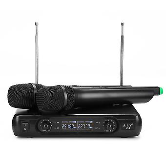 J.I.Y V-2 Wireless Dual Microphone Mic System for KTV Karaoke Speech Event US