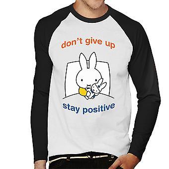Nijntje Dont Give Up Stay Positive Men's Baseball T-Shirt met lange mouwen