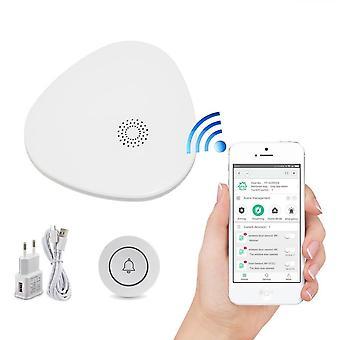 Sonnette wifi, une clé, système de bouton sos d'urgence avec poussoir de message de téléphone