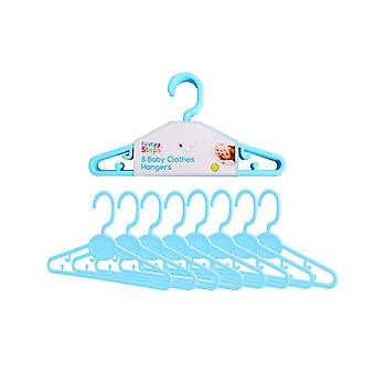 FIRST STEPS Baby Clothes Hangers 8 Pack - Blue