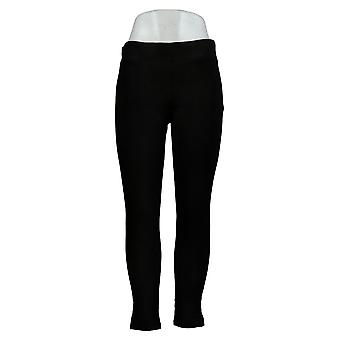HUE Leggings Utopia Cotton Blend Stretch Knit Pull On Black 692-483