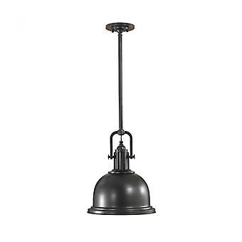 Lámpara Colgante Parker, Bronce Oscuro Y Vidrio, Mediano