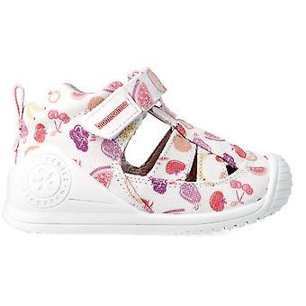 Biomecanics Girls 212212-B Canvas Shoes White Print