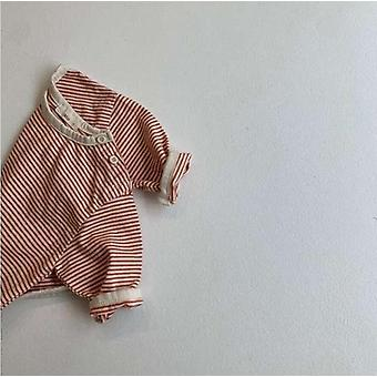 T-shirt à manches longues en coton doux pour bébé - Chemise à bas rayé mignonne