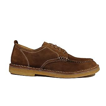 Loake Jimmy Tan Suede Leather Mens Derby Shoes