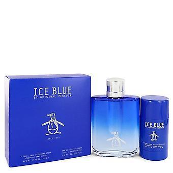 Original Penguin Ice Blue Gift Set av Original Penguin 3,4 oz Eau De Toilette Spray + 2.75 oz. Deodorant Stick