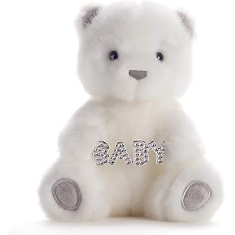 Chic & Love Medium Bailey Bear with Swarovski Crystal Baby Charm in Gift Box
