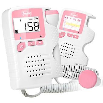 Ručný fetálny doppler prenatálny detektor srdcovej frekvencie dieťaťa sonar doppler monitor srdcového tepu pre tehotné ženy homeuse