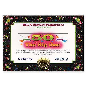 50 es el certificado grande (pack de 6)