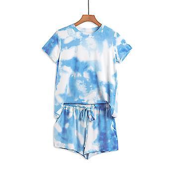 Sky Blue Tie Dye rövid lounge szett
