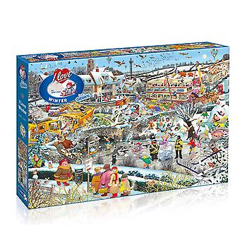 Gibsons Jigsaw Puzzle I Love iarna 1000 piese Mike Jupp